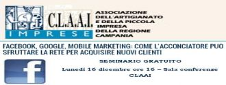 Facebook, Google, Mobile Marketing: seminario Estensa e Claai Campania